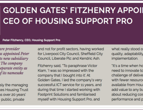 Golden Gates' Peter Fitzhenry appointed CEO of Housing Support Pro