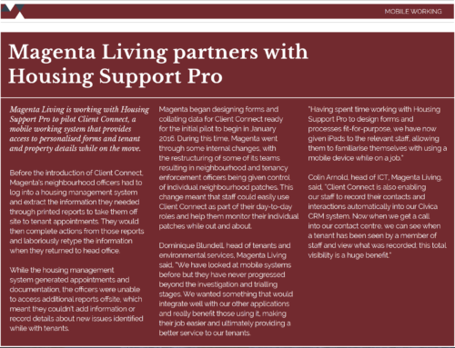 Magenta Living partners with Housing Support Pro