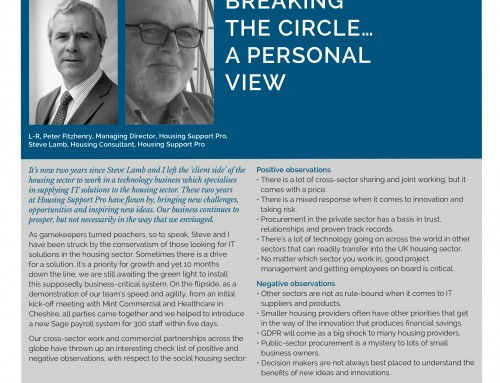 BREAKING THE CIRCLE… A PERSONAL VIEW
