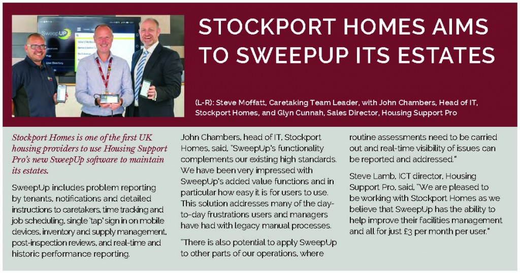 Sweep Up Stockport Homes Housing Technology